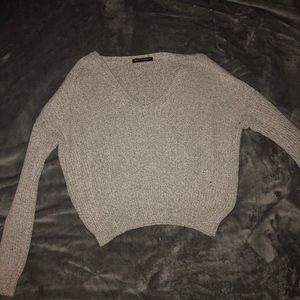 cropped knit brandy melville sweater